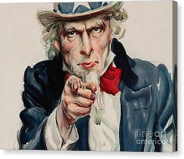 I Want You For U S Army Canvas Print by MotionAge Designs