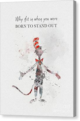 Shower Canvas Print - I Was Born To Stand Out by Rebecca Jenkins