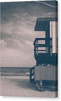 Canvas Print featuring the photograph I Was Checkin' On The Surfin' Scene by Yvette Van Teeffelen