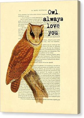 I Will Always Love You Canvas Print by Madame Memento
