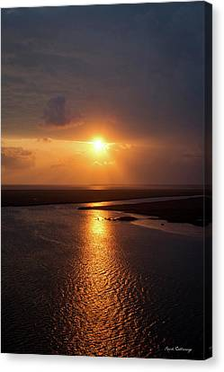 I Will Be Back Jekyll Island Sunset Art  Canvas Print by Reid Callaway