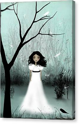 Melancholy Canvas Print - I Will Be Your Light by Charlene Zatloukal