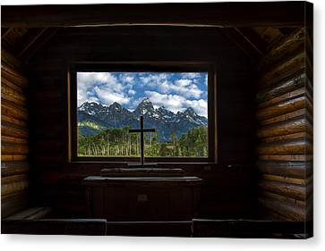 Christian Canvas Print - I Will Lift Up My Eyes Unto The Hills by Andrew Soundarajan