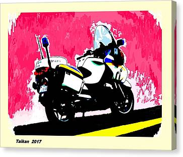 I Wish I Got This Bike By Taikan Canvas Print