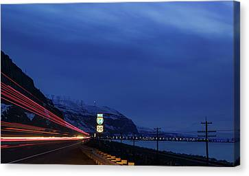 Canvas Print featuring the photograph I84 by Cat Connor