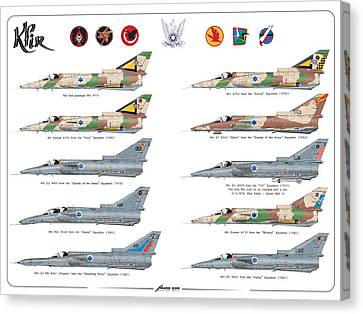 Iaf All Times Iai Kfir Canvas Print