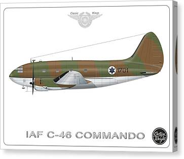 Iaf C-46 Commando Canvas Print by Amos Dor