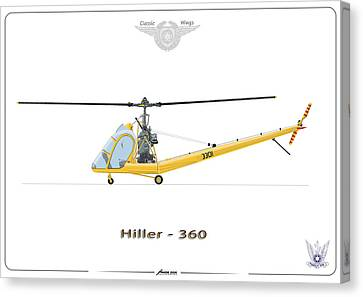 Iaf Hiller 360 Canvas Print by Amos Dor