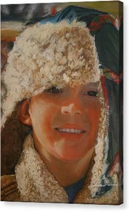 Ian Portrait Canvas Print by Leonor Thornton