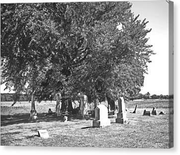 Scenery Canvas Print - Iberia Grave Stones by Peter  McIntosh