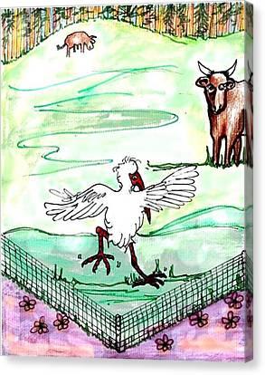 Ibis Hopping Canvas Print