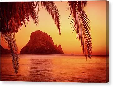 Ibiza Sunset Canvas Print by Iryna Goodall