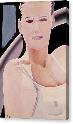 Ibiza Woman Number One Canvas Print by Geoff Greene