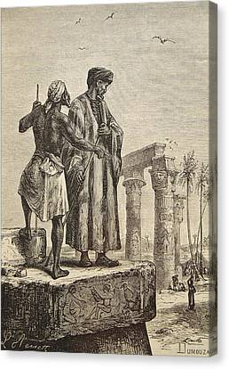 Moroccan Canvas Print - Ibn Battuta In Egypt. Ibn Battuta by Vintage Design Pics