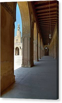 Ibn Tulun Great Mosque Canvas Print by Nigel Fletcher-Jones