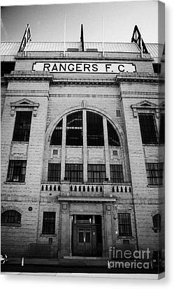 Ibrox Stadium Home Ground To Glasgow Rangers Fc Glasgow Scotland Canvas Print by Joe Fox