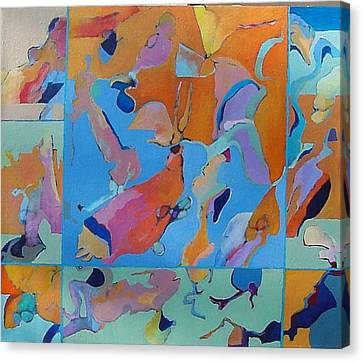 Icarus Descent Canvas Print by Bernard Goodman