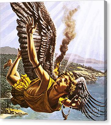 Icarus Canvas Print by Roger Payne
