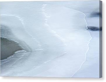 Ice Abstract 3 Canvas Print by Hitendra SINKAR