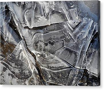 Ice Abstract Canvas Print by Lynda Lehmann