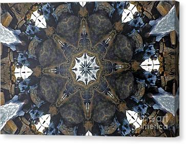 Nature Center Canvas Print - Ice And Stone Kaleidoscope by Dagmar Batyahav