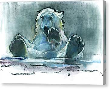 Ice Bath Canvas Print by Mark Adlington