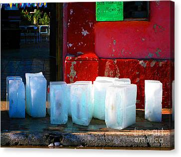 Ice Blocks By Michael Fitzpatrick Canvas Print by Mexicolors Art Photography