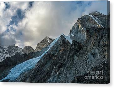 Ice Blue Changri Glacier Canvas Print by Mike Reid
