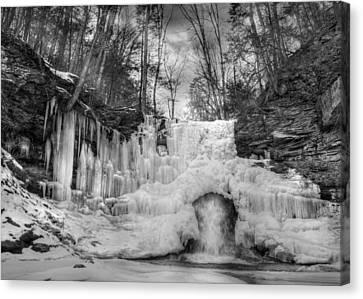 Ice Castle Canvas Print by Lori Deiter
