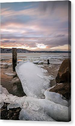 Ice Chips Canvas Print by Anthony Fields