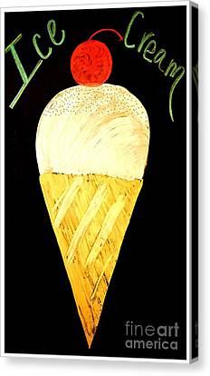 Ice Cream Cone Canvas Print by Darla Wood