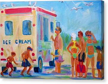 Here Comes The Ice Cream Man Children Watercolor  Wall Art Print