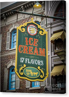 Ice Cream Shop Canvas Print by Perry Webster
