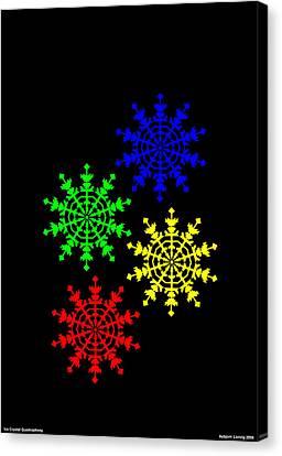 Ice Crystal Canvas Print by Asbjorn Lonvig