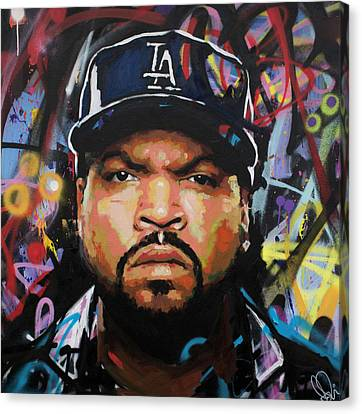 Canvas Print featuring the painting Ice Cube by Richard Day