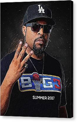 Lil Wayne Art Canvas Print - Ice Cube by Semih Yurdabak