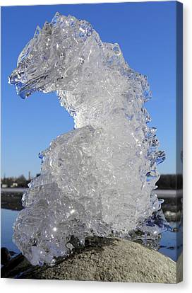 Canvas Print featuring the photograph Ice Dragon by Sami Tiainen
