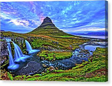 Canvas Print featuring the photograph Ice Falls by Scott Mahon