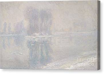 Ice Floes, 1893 Canvas Print by Claude Monet
