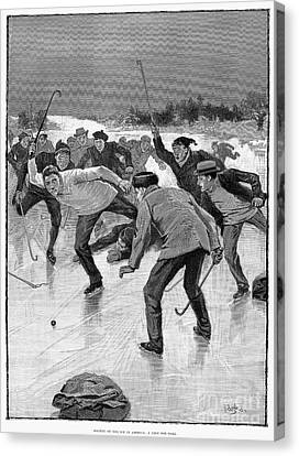 Ice Hockey, 1898 Canvas Print by Granger