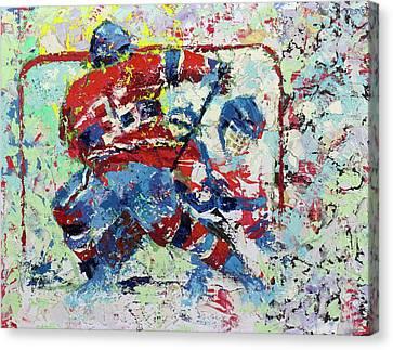 Ice Hockey No1 Canvas Print by Walter Fahmy