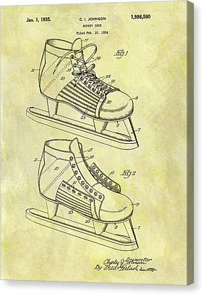 Ice Hockey Skates Patent Image Canvas Print by Dan Sproul