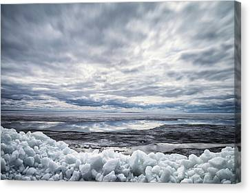 Ice On Lake Nipissing Canvas Print by Brian Boudreau