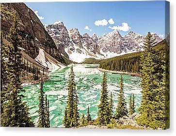 Canvas Print - Ice On Moraine Lake by Scott Pellegrin