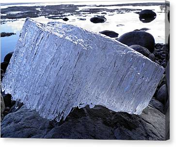 Canvas Print featuring the photograph Ice On Rocks 1 by Sami Tiainen