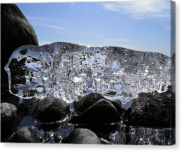 Canvas Print featuring the photograph Ice On Rocks 3 by Sami Tiainen