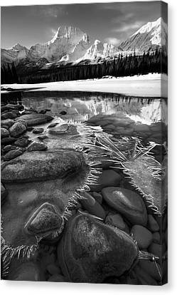 Ice On The Athabasca Canvas Print