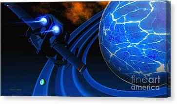 Ice Planet Canvas Print by Corey Ford