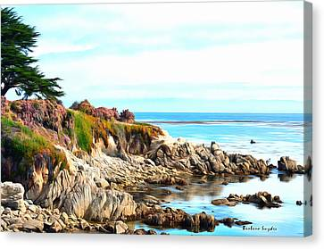Ice Plant Along The Monterey Shore Canvas Print by Barbara Snyder