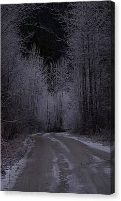 Ice Road Canvas Print